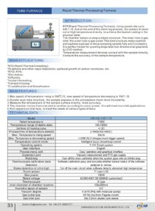 Rapid Thermal Processing Furnace
